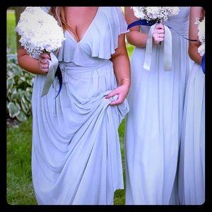 Azazie bridesmaid dress flutter butterfly sleeves